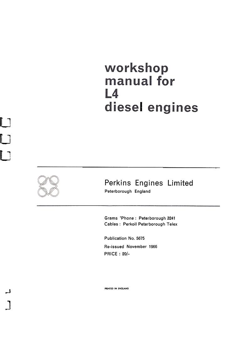 ... Array - perkins l4 workshop manual rh l 36 ...