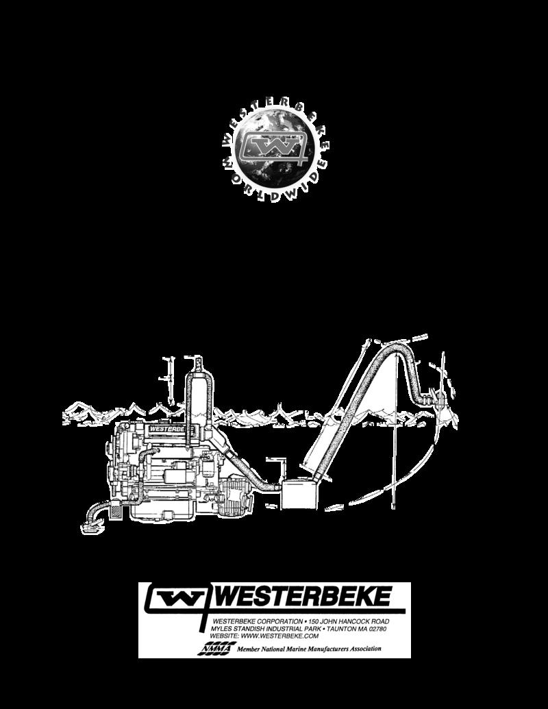 Westerbeke Marine Engine Installation Manual on